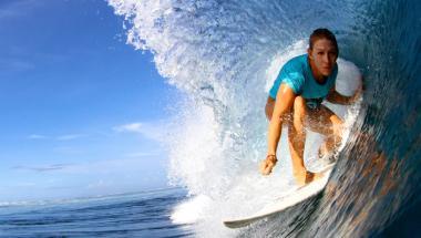 surfer in pipeline