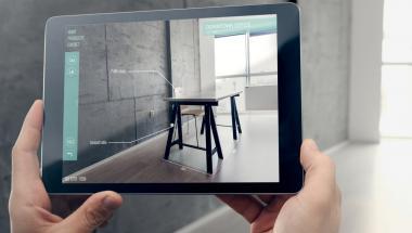 tablet showing furniture